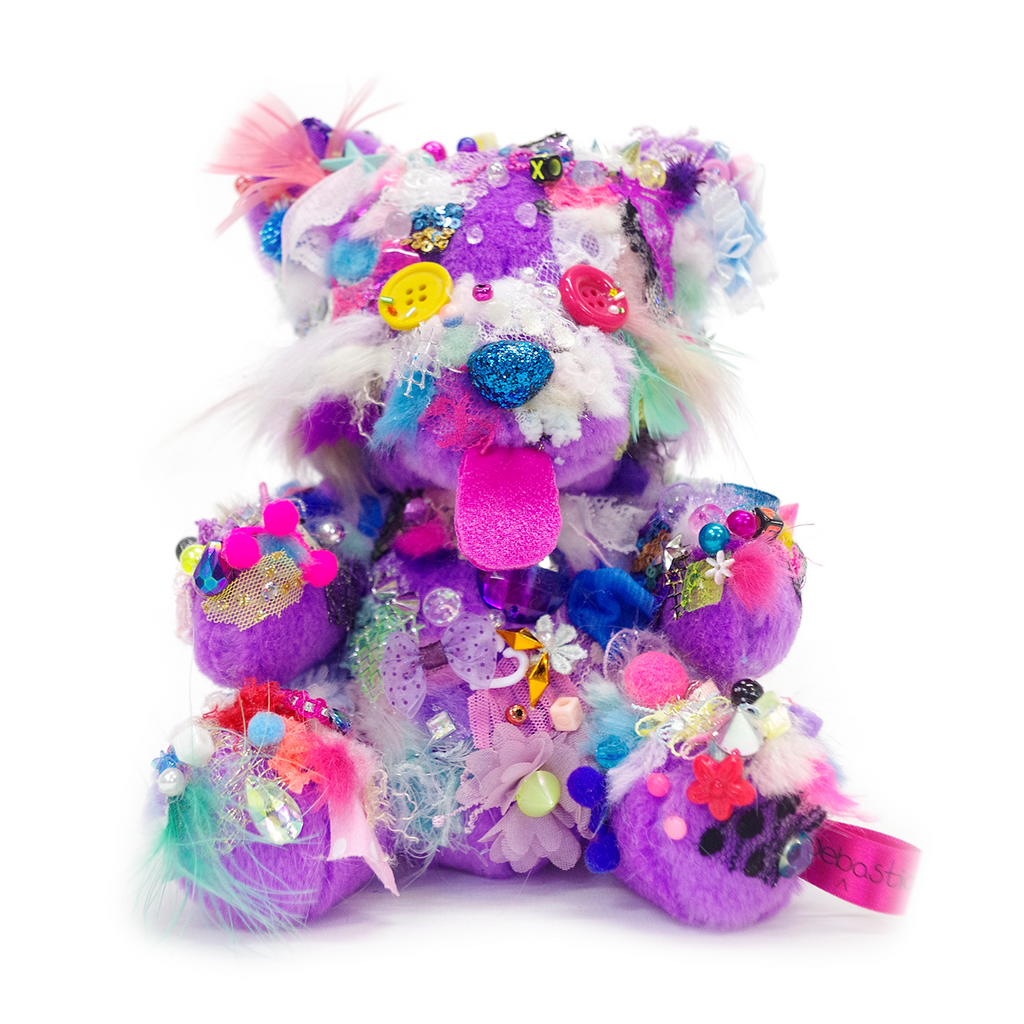 Your Bear no.25 Purple <br> Sebastian Masuda <br> 2018