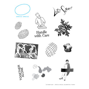 4th Anniversary Temporary Tattoo Sheet