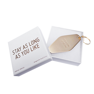Stay As Long As You Like Brass Keychain