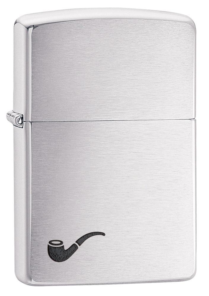 Zippo Pipe Lighter - Brushed Chrome