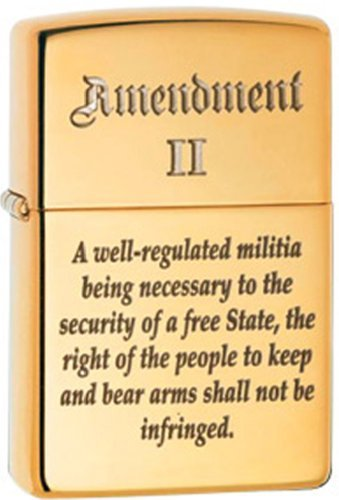 Zippo Pipe Lighter - 2nd Amendment
