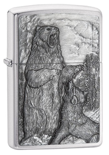 Zippo Pipe Lighter - Bear vs Wolf