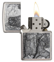 Load image into Gallery viewer, Zippo Pipe Lighter - Bear vs Wolf