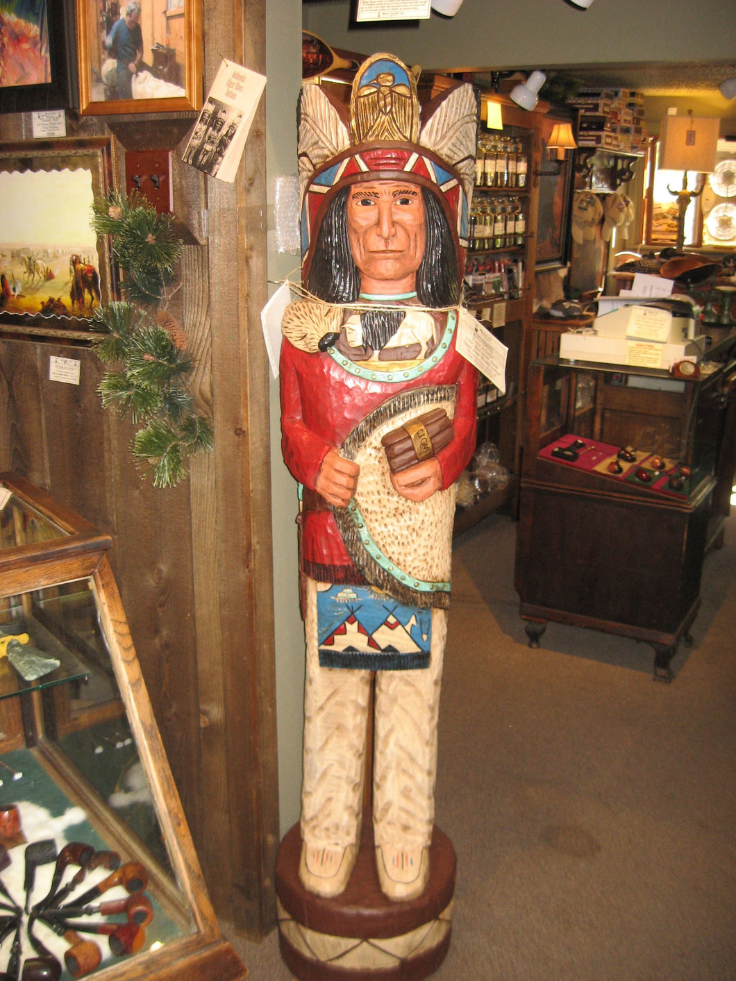 Frank Gallagher Cigar Store Indians