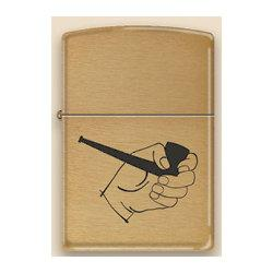 Zippo Pipe Lighter - Gold Pipe Hand
