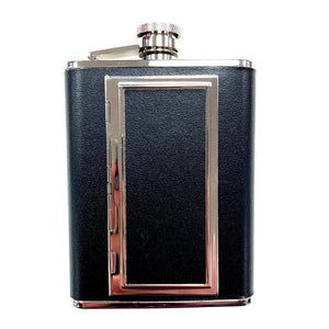 Flask - Cigarette Case Leather 6 oz
