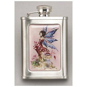 Flask - Amy Brown The Brat Faery 3oz