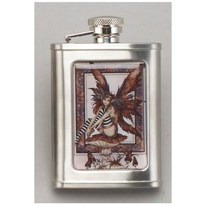 Flask - Amy Brown Naughty Brown Faery 3oz