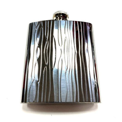Flask - Curvy Lines with Funnel 8oz