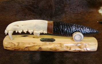 Wolf Jaw Obsidian Knife