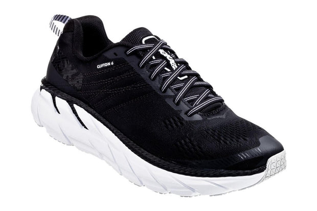 Clifton 6 (D) Black/White (1102877BWHT)