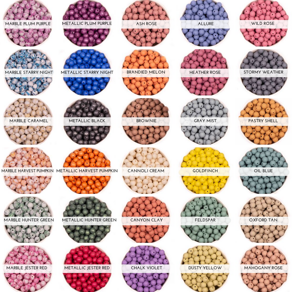 October 2019 release of Chomp Supply's Fall Silicone Bead Collection