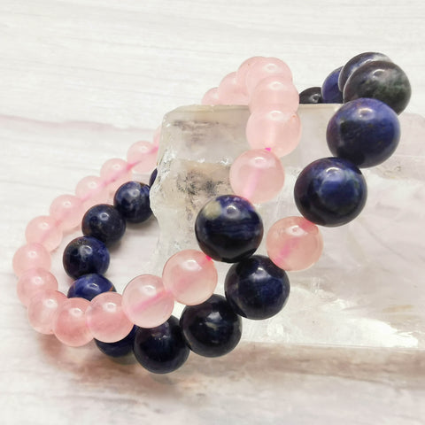 HOME Bracelet - Rose Quartz & Sodalite