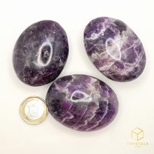 Load image into Gallery viewer, Chevron Amethyst Palm Stone