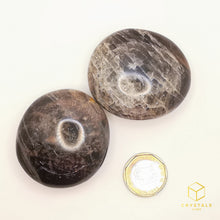 Load image into Gallery viewer, Black Moonstone Palm Stone