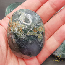 Load image into Gallery viewer, Moss Agate Palm Stone