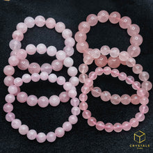 Load image into Gallery viewer, Rose Quartz Bracelet. This batch is on the left