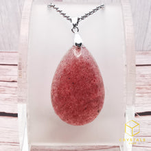 Load image into Gallery viewer, Strawberry Quartz Pendant