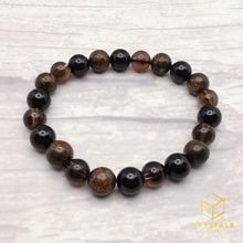 Load image into Gallery viewer, Protection bracelet - Black Tourmaline, Bronzite & Smokey Quartz
