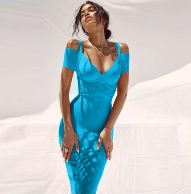 Shoulder Bandage Dress (comes in multiple colors)