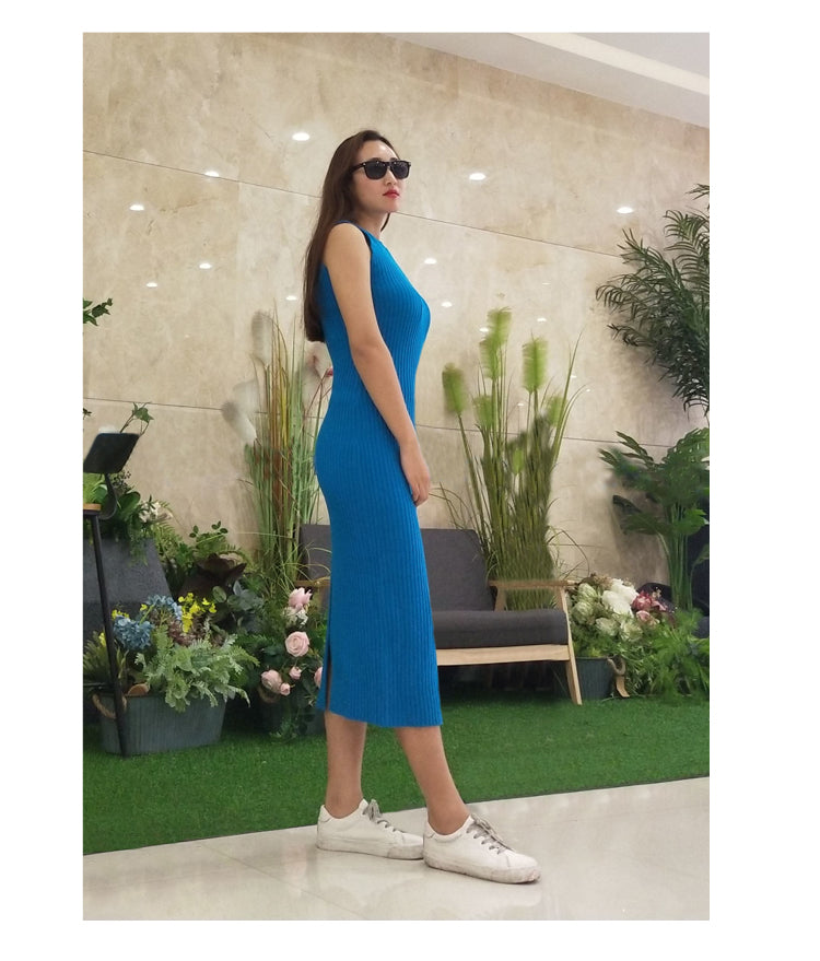 2 Piece Knitted Dress (Two Colors Available)