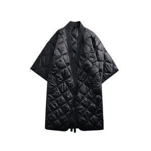 V-collar Three-quarter Sleeve Coat