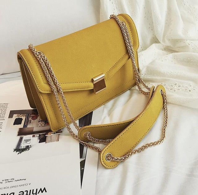 Yellow Retro Chain Bag