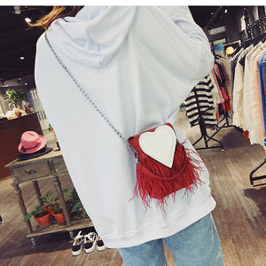 Heart Feather Bag II