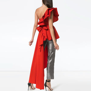 Asymmetrical Off Shoulder Top
