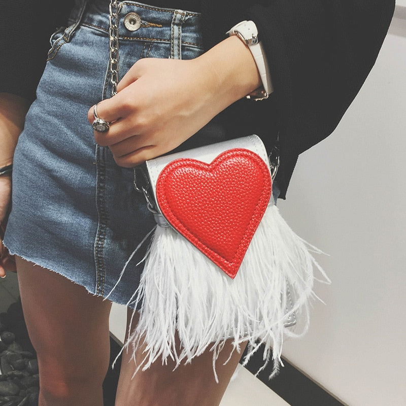 Heart Feather Bag I
