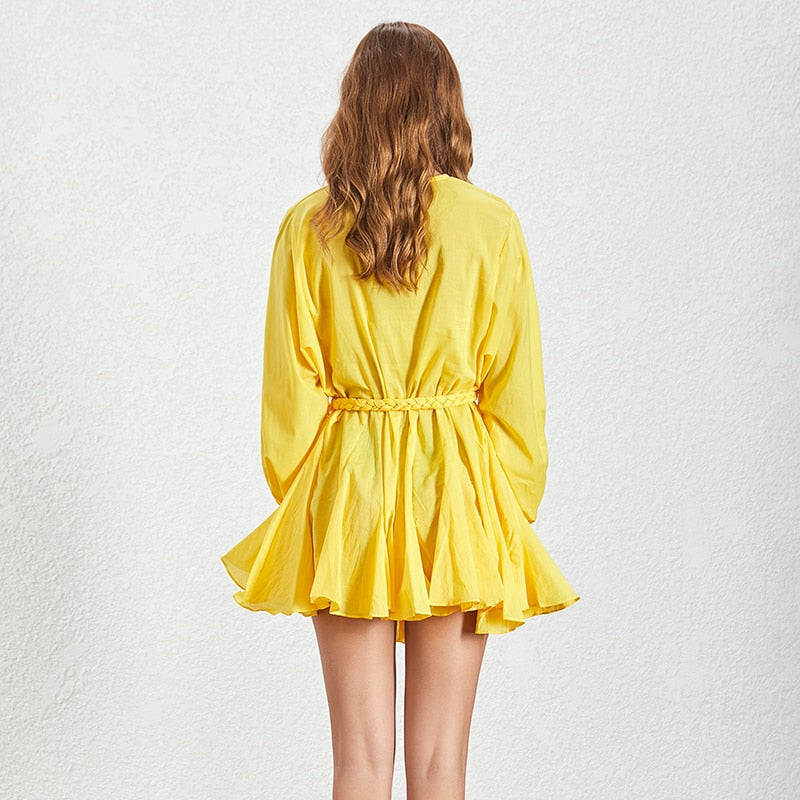 Yellow Tie Dress