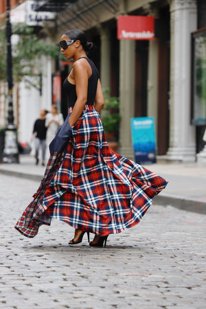 Flannel Maxi Skirt