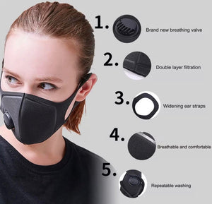 Unisex Adult Black Face Mask