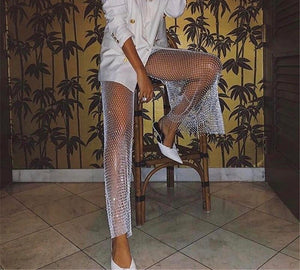 Crystal Fishnet Pants (fits size 0-14)