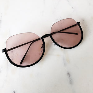 Pink Black Framed Glasses