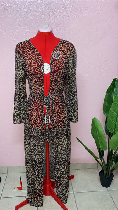 Catty Mesh Robe Cover up