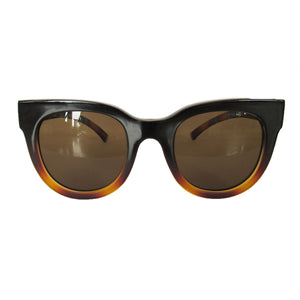 Small Square Black and Caramel Coloured Sunglasses w/ Brown Lenses