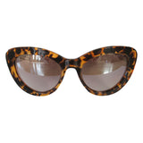 Cat Eye Turtle Print Coloured Sunglasses w/ Silver Mirrored Lenses
