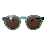 Round Light Green Coloured Sunglasses w/ Hazel Lenses