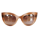 Cat Eye Honey Coloured Sunglasses w/ Silver Mirrored Lenses