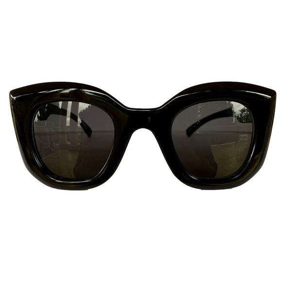 Light Collection - Black Coloured Sunglasses w/ Black Lenses