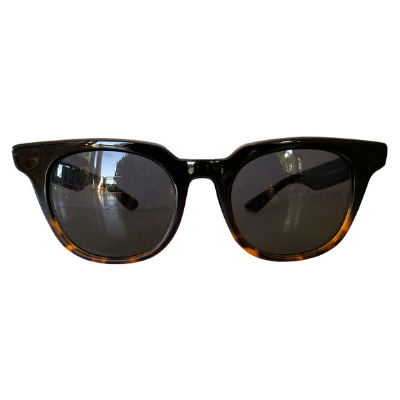 WANDERLUST COLLECTION: Square Black Coloured Sunglasses w/ Black Lenses