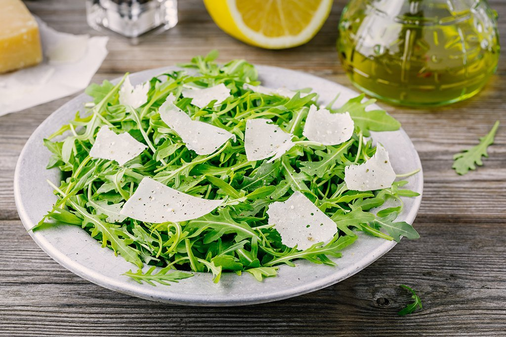 Arugula Salad with Parmesan, Lemon & Olive Oil