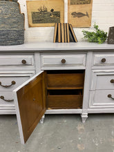 Load image into Gallery viewer, 9 drawer Grey Dresser