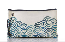 Load image into Gallery viewer, Seabags Watercolor Waves Large Wristlet