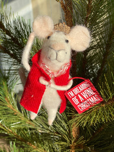 Wool Felt Wine Mouse