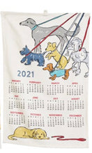 Load image into Gallery viewer, Dog Inspired 2021 Calendar Tea Towel