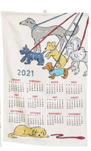 Dog Inspired 2021 Calendar Tea Towel