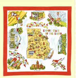 Vintage Inspired Georgia Flour Sack Tea Towel