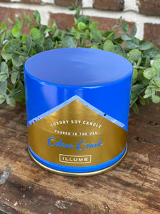 Large Illume Citrus Crush Tin Candle